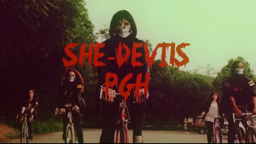 "Project image for ""She-Devils PGH"" Film -- Bicycle Gang + Aliens = Camp Heaven"