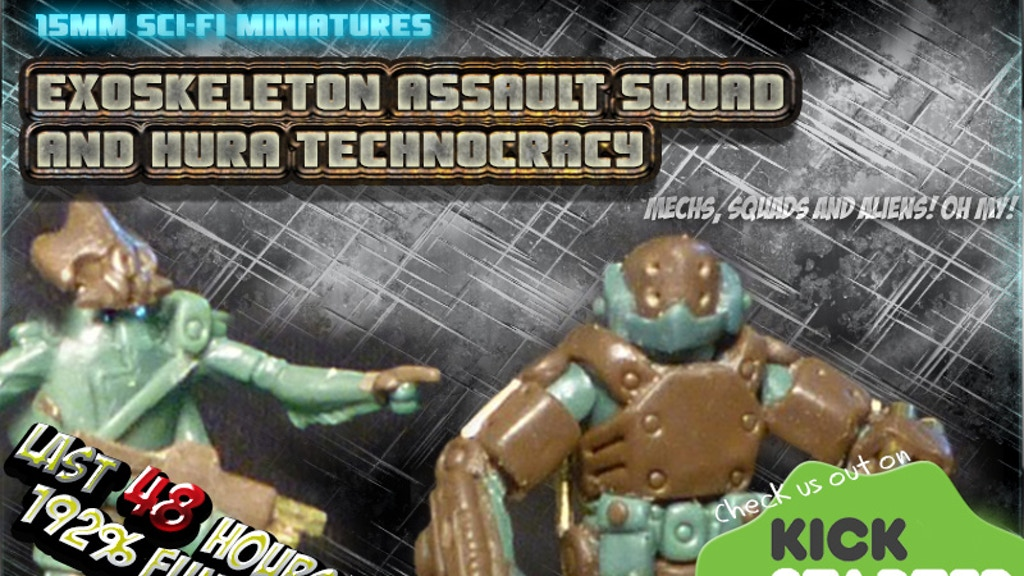 ExoSkeleton Assault Squad and Hura Technocracy - 15mm Sci-Fi project video thumbnail