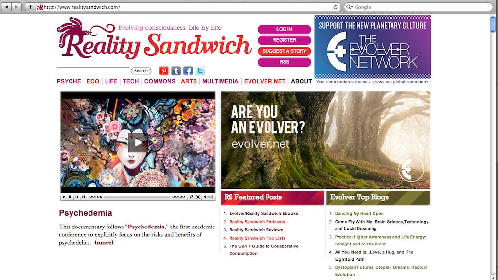 Reality Sandwich 2.0 project video thumbnail