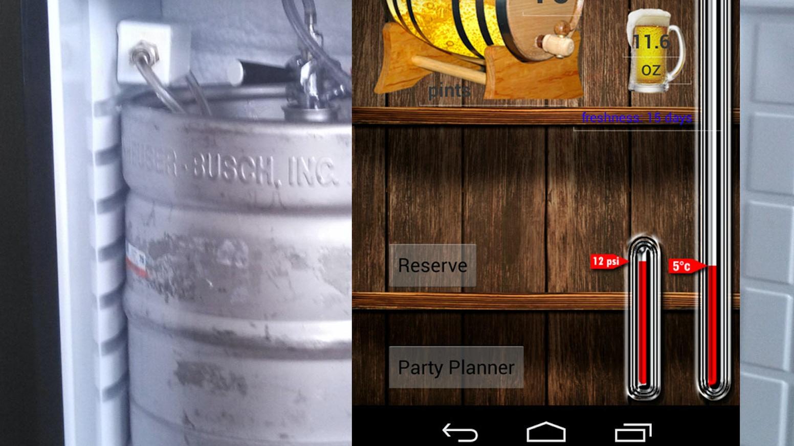 kegvision smartphone kegerator beer monitor by dan gotko ios