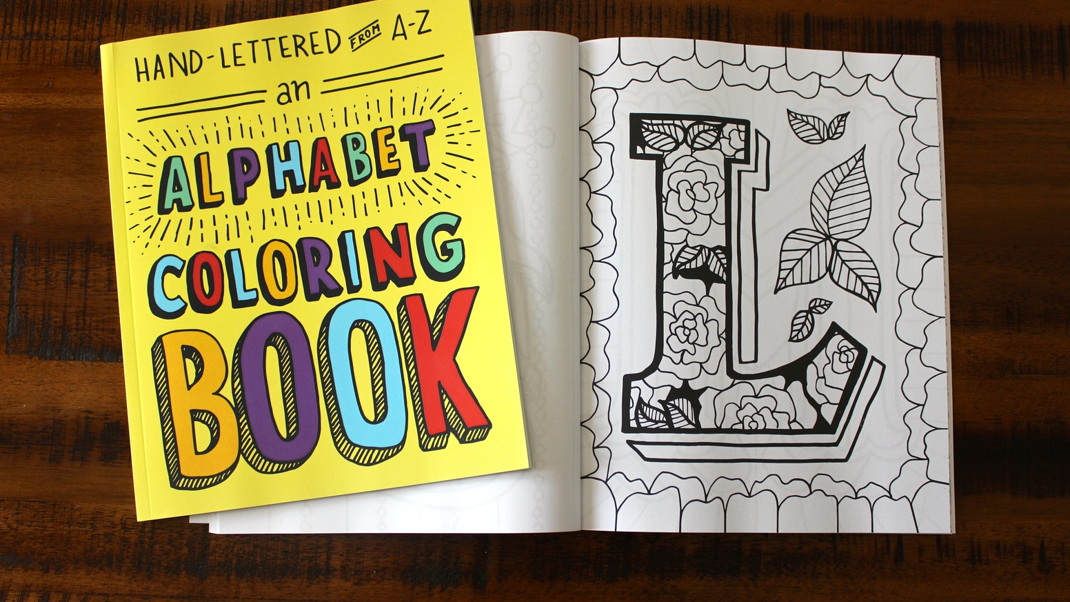 Hand-Lettered from A to Z: An Alphabet Coloring Book by Free ...