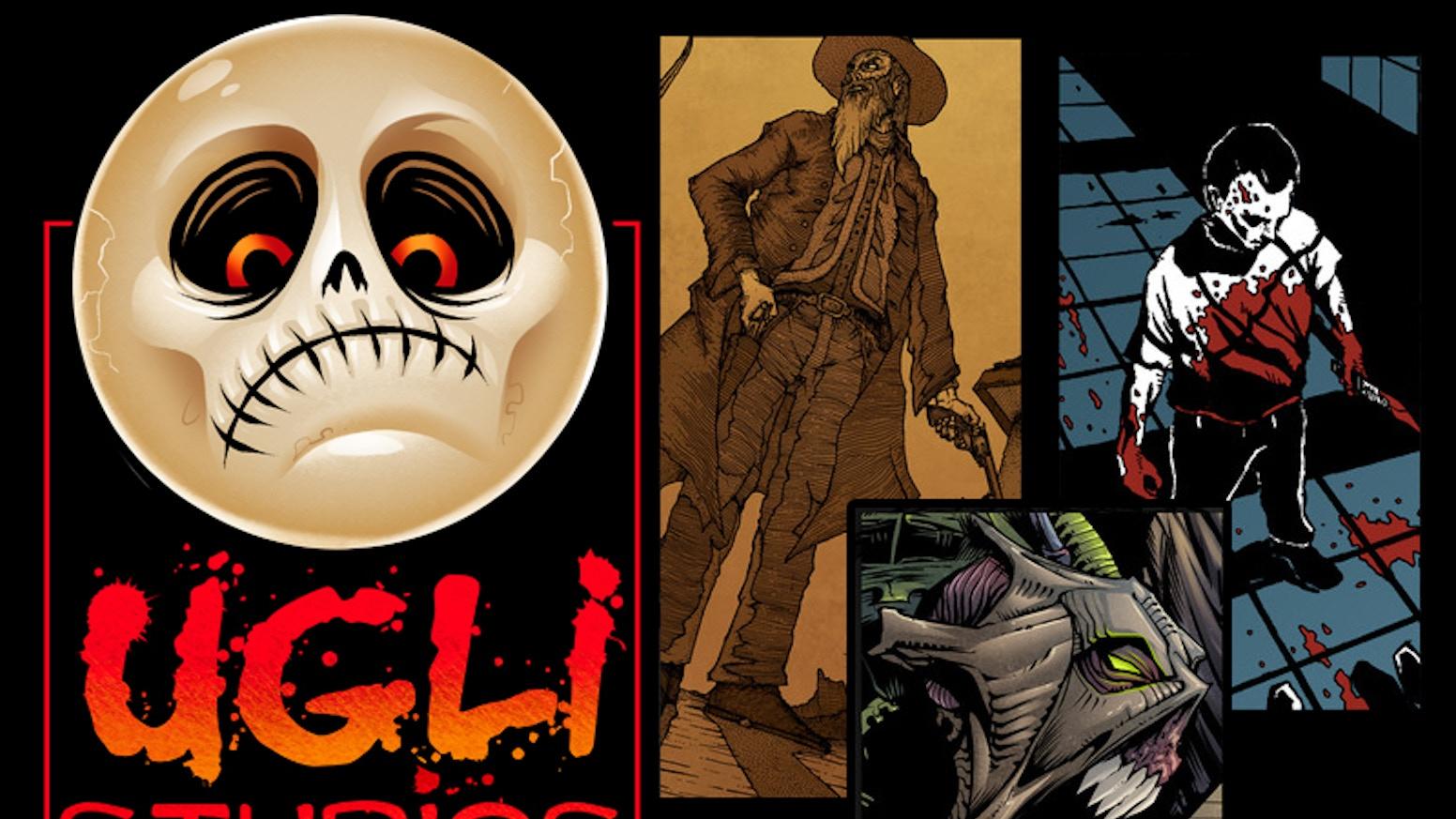 Three artists, three unique visions, one hardcore anthology comic - Ugli Studios Presents: #2.