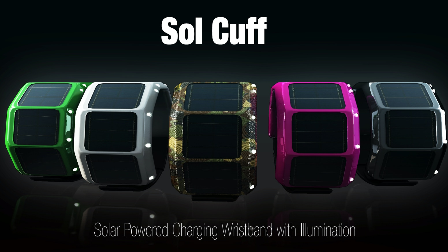 Sol Cuff Solar Powered Charging Wristband With
