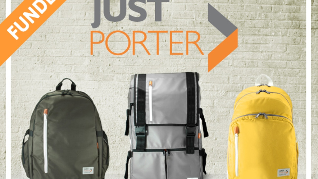 Just Porter: Reinventing What a Backpack Can Be project video thumbnail