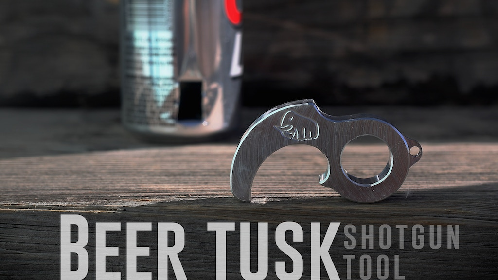 The Beer Tusk. The Tool that Shotguns a Beer Can Perfectly. project video thumbnail