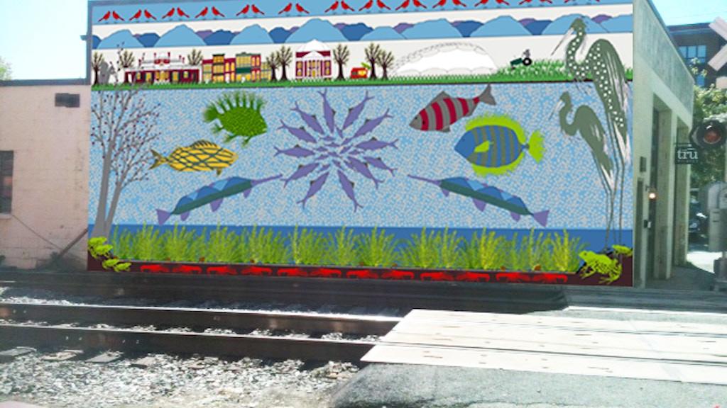 Rivanna River Basin Mural--by artist Kaki Dimock project video thumbnail