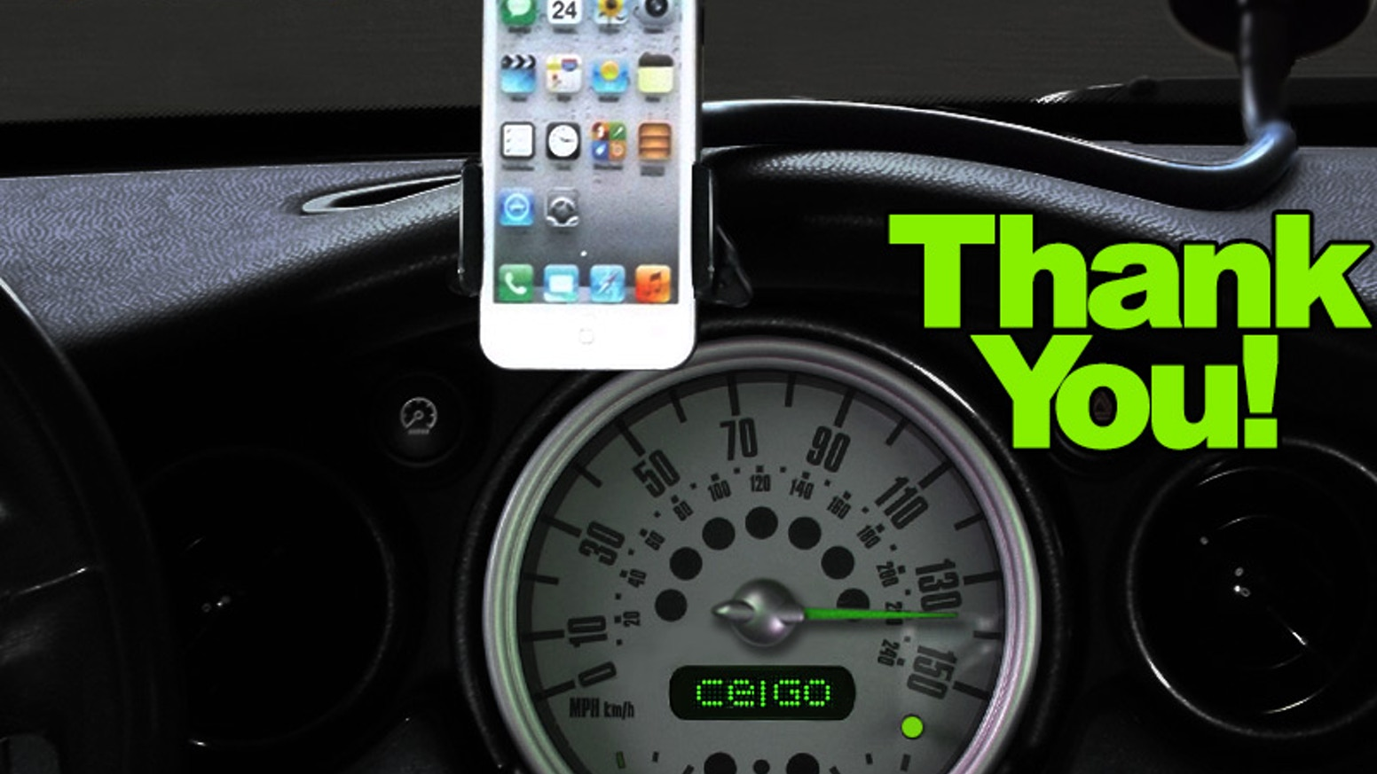 Celgo flexible hands free cell phone holder for your car