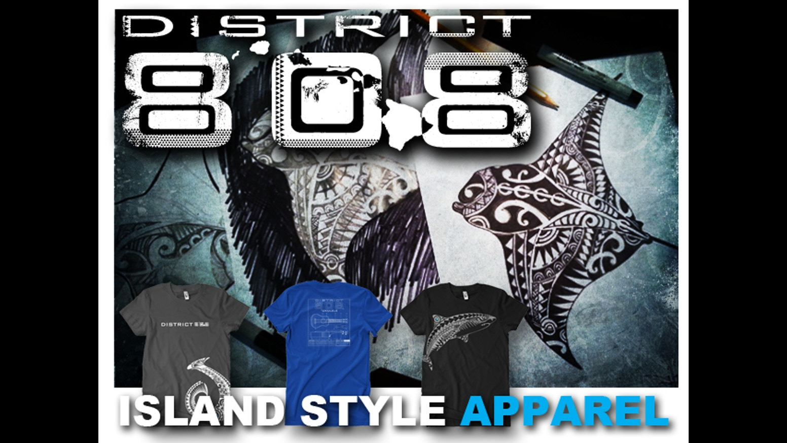 T shirt design hawaii - District 808 Hawaii Hawaiian Inspired T Shirt Designs