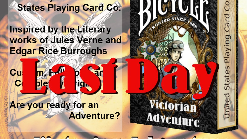 A Victorian Adventure Custom Bicycle Playing Cards project video thumbnail