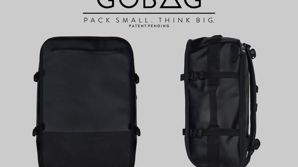 GOBAG - A Vacuum Compressible Carry-On Bag For Any Adventure project video thumbnail