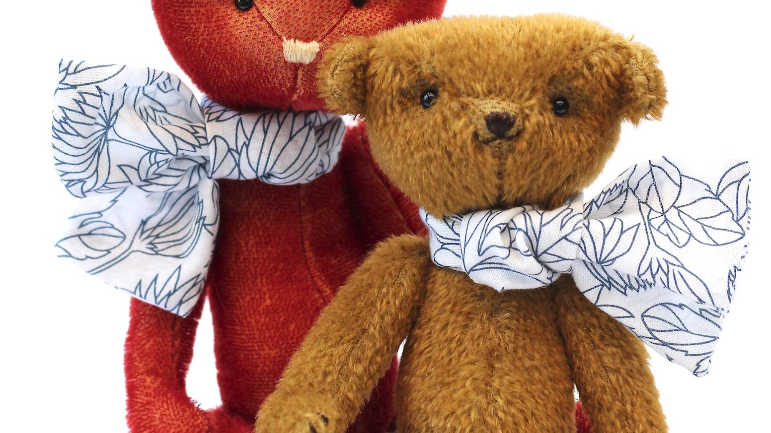 modern jointed teddy bears by sian wheatcroft kickstarter