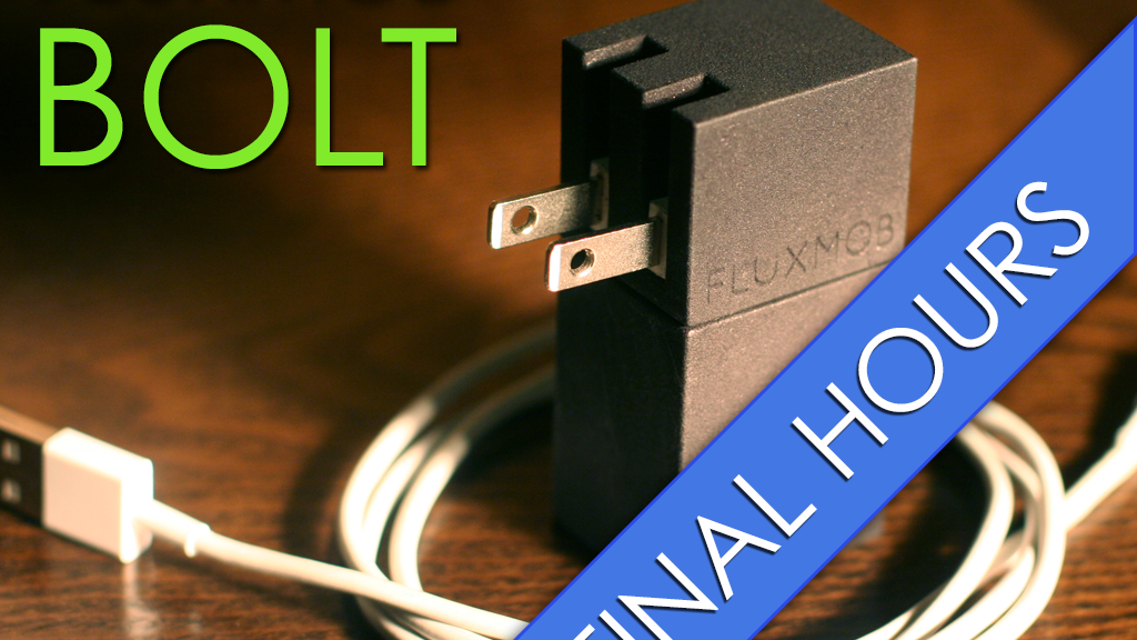 BOLT: Portable USB Battery Backup with Built in Wall Charger project video thumbnail
