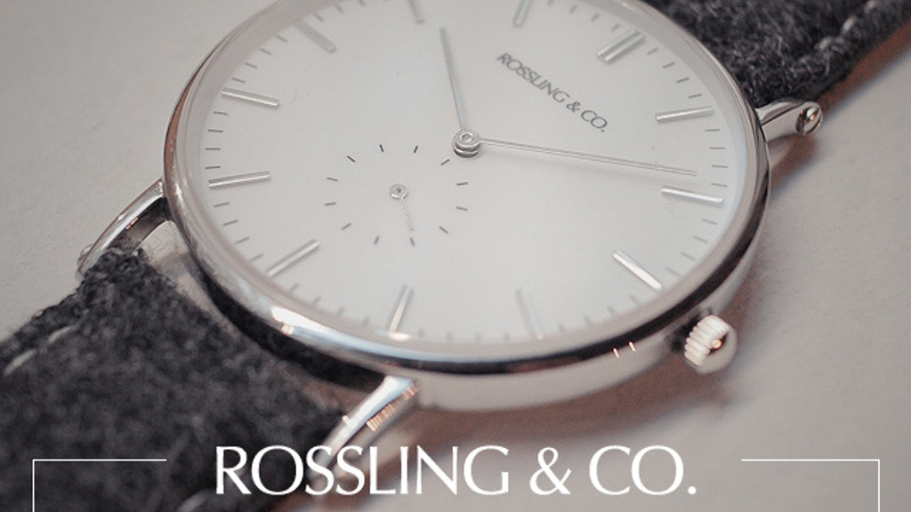 Rossling & Co - Ultra-Thin Watches & Tweed Straps project video thumbnail