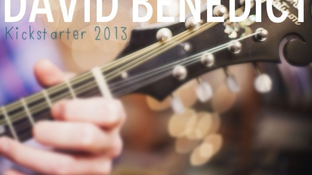 David Benedict - The Debut Solo Album project video thumbnail