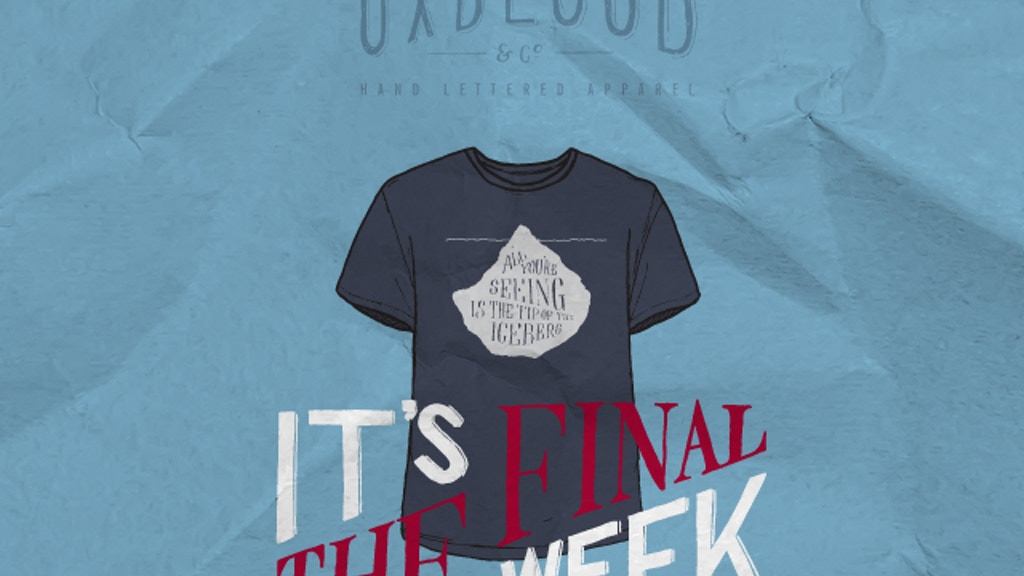 Hand Lettered T-shirt range - Oxblood & Co. project video thumbnail