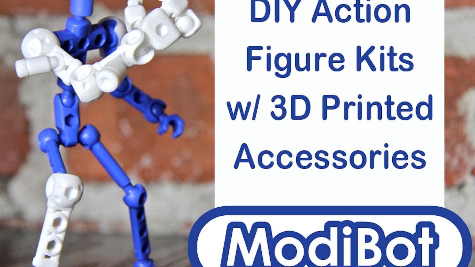 Modibot Mo Diy Action Figures With 3d Printed Accessories By Go Go Dynamo Kickstarter