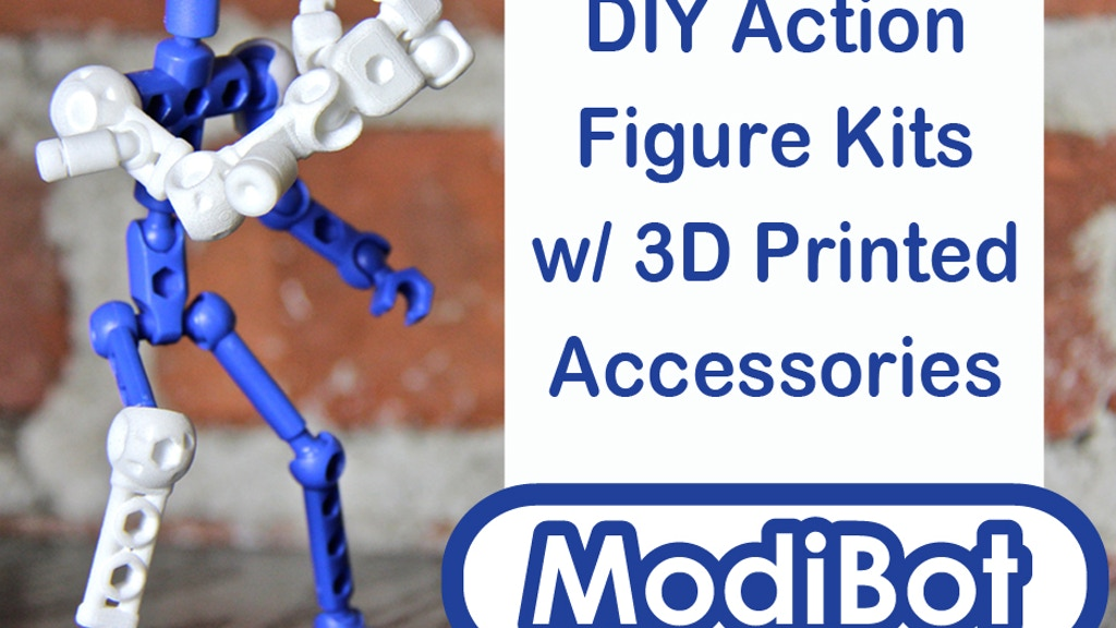 ModiBot Mo: DIY Action Figures with 3d Printed accessories project video thumbnail