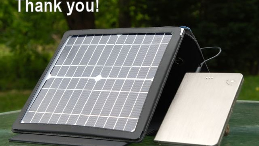 SunStash Portable Solar Power Charger For Gadgets & Laptops project video thumbnail