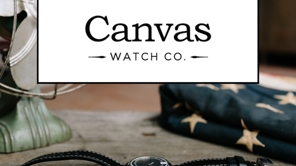 Canvas Watch Company : Community-driven Watch Design project video thumbnail