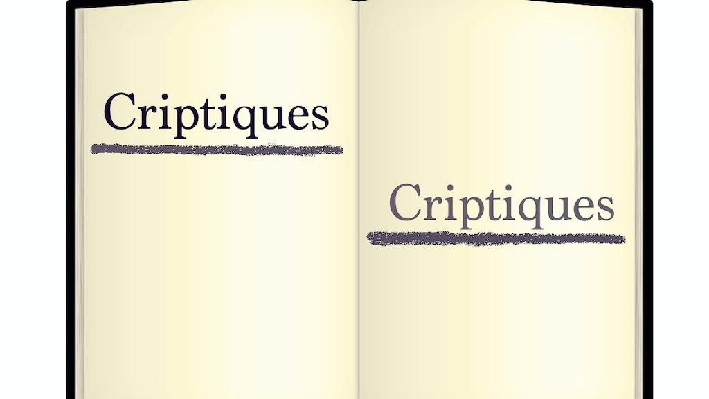Criptiques project video thumbnail