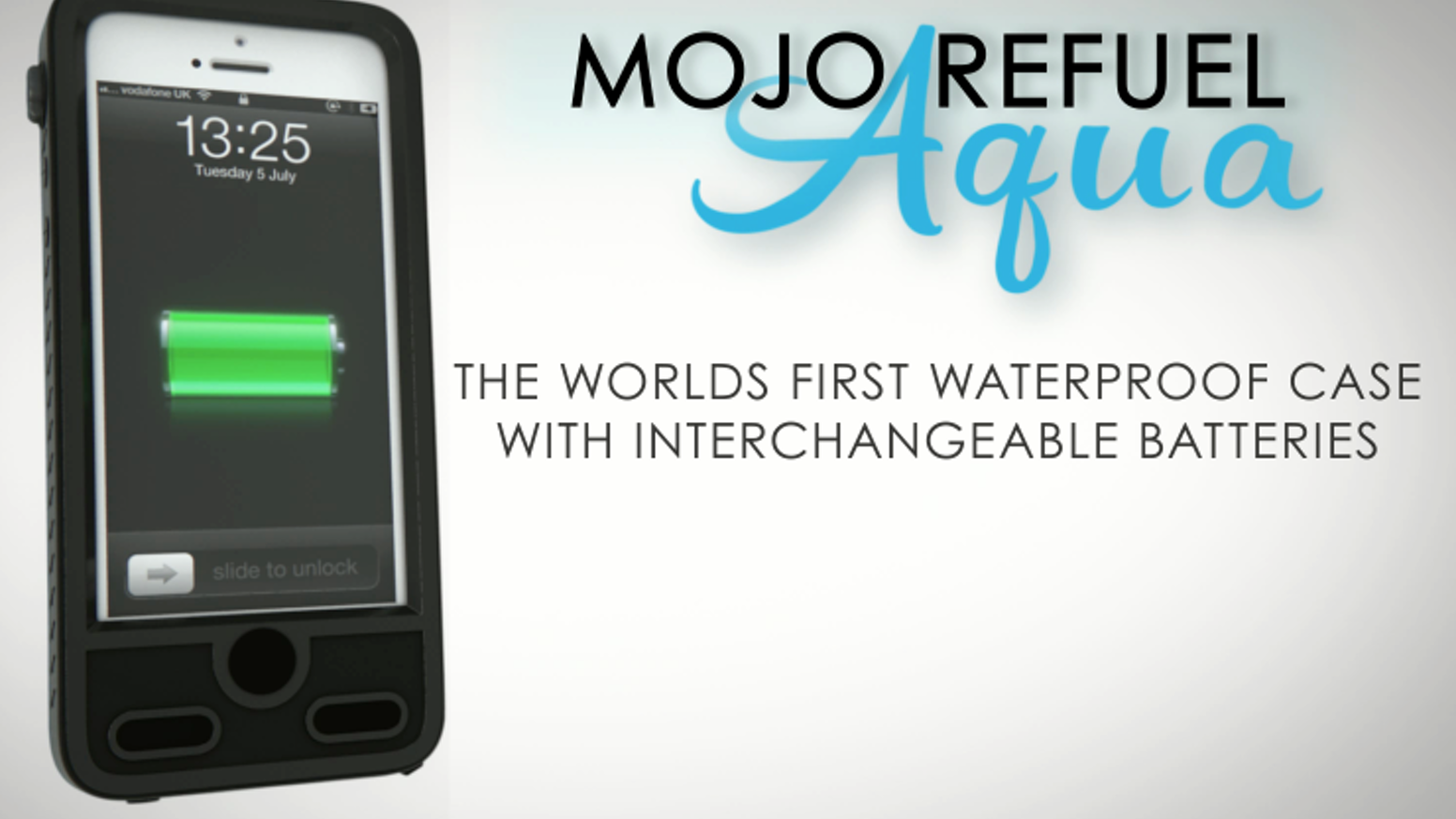 the best attitude d4c3c 6fa7f Waterproof Removable Battery Case - ibattz Mojo Refuel Aqua by ...