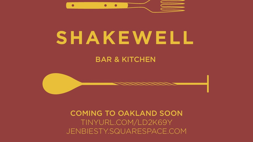 Top Chefs Opening Shakewell Bar & Kitchen! project video thumbnail