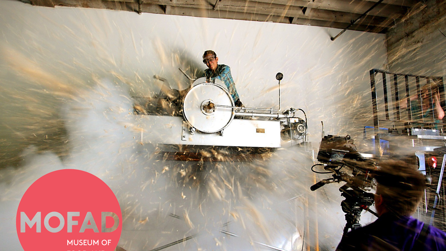 Meet the puffing gun: a whirling 3,200-pound machine that explosively puffs cereal. We made it the first exhibit of the Museum of Food and Drink (MOFAD). Visit mofad.org to learn more about our brick-and-mortar gallery space in Brooklyn.
