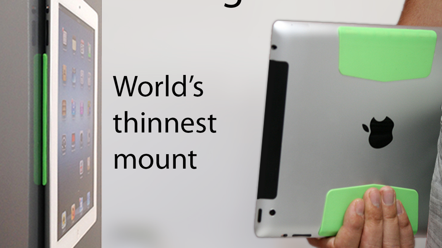 It mounts to walls.  Snaps SmartCover to the back.  Provides the perfect grip.  Protects your iPad.    Order now www.1lss.com