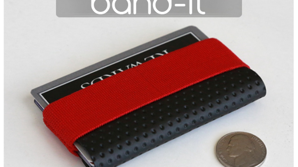 Band-it - extra small minimal wallet. project video thumbnail