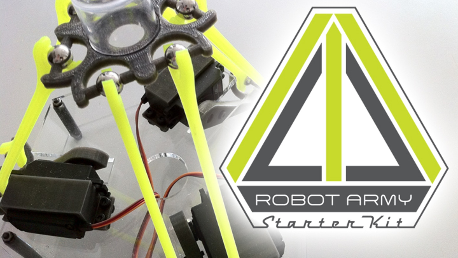 Robot army starter kit by robot army llc kickstarter a do it yourself delta robot kit thats fun to build sharp to solutioingenieria Image collections