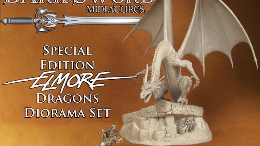Dark Sword Miniatures Special Edition Elmore Dragons Diorama project video thumbnail