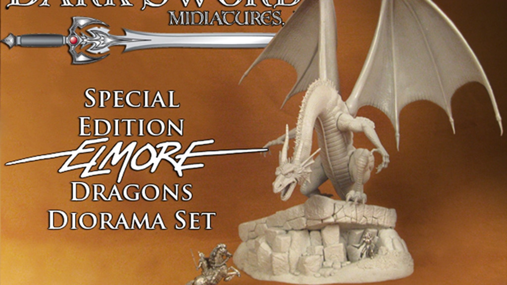 Dark Sword Miniatures Special Edition Elmore Dragons Diorama project video thumbnail