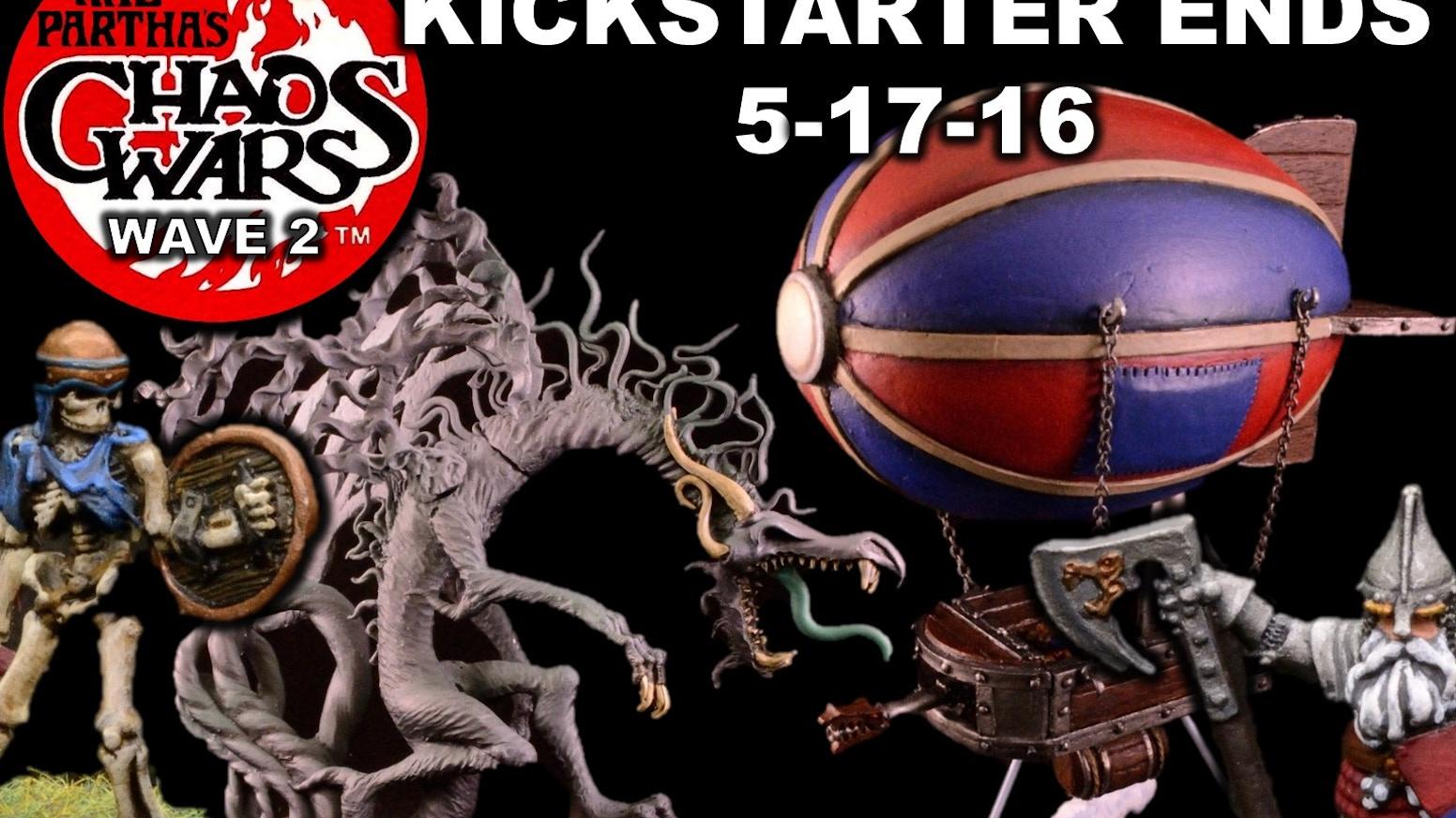 Ral Partha's Chaos Wars Dwarf, Undead, Troglodyte Miniatures
