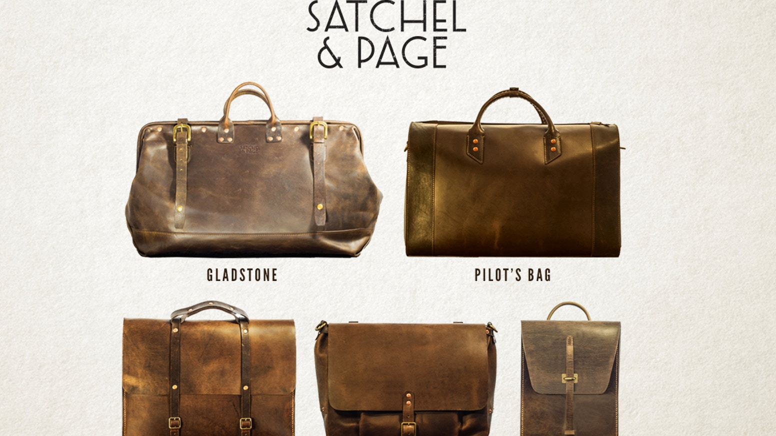 Heirloom quality, 1940s styled leather bags. Inspired by my Grandfather's Map Case from WWII. Guaranteed for life.
