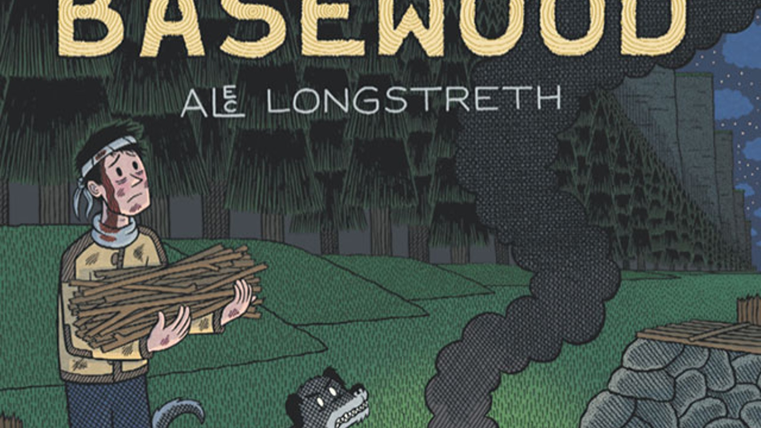 Basewood is a 216-page, hardback, black and white, fantasy graphic novel.