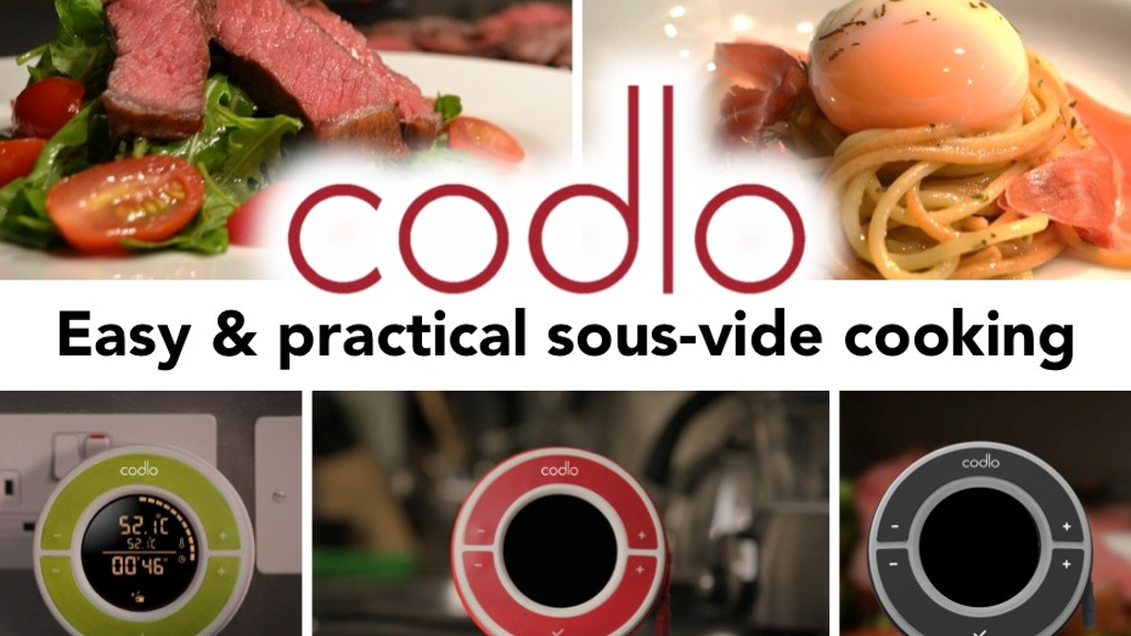 Codlo®: simple & compact home sous-vide cooking project video thumbnail