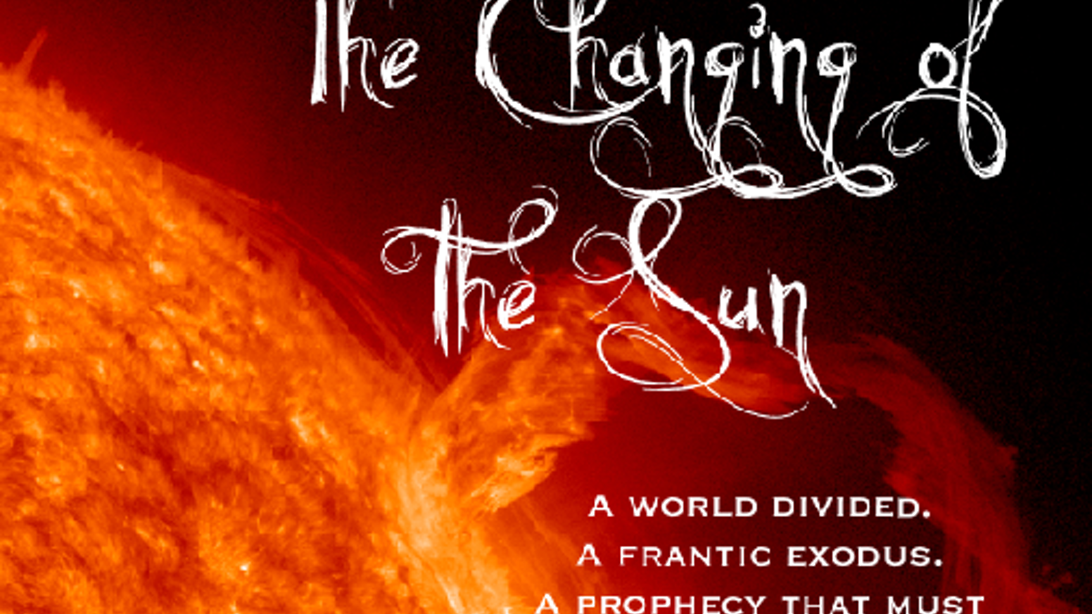 Help publish my debut novel The Changing of the Sun, the first in a science fiction trilogy set on an alien world.