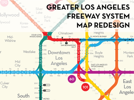 Los angeles freeway map redesigned by peter dunn kickstarter the freeways of greater los angeles presented in a clear stylish map inspired by subway publicscrutiny Images