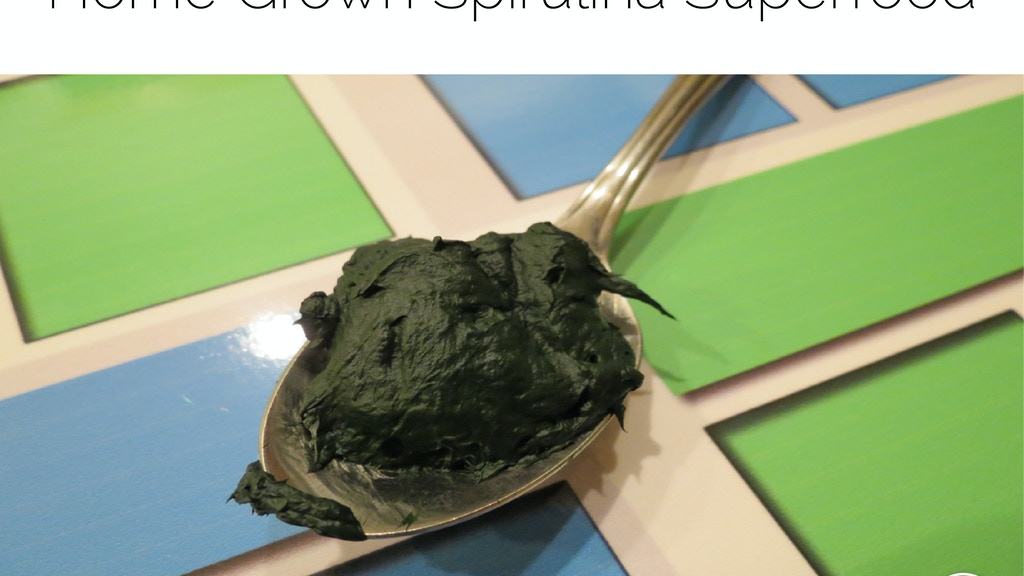 Food of the Future: Home Grown Spirulina Superfood Systems project video thumbnail