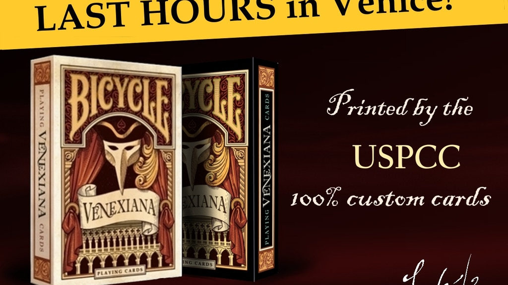 """Bicycle """"Venexiana"""" deck of playing cards project video thumbnail"""