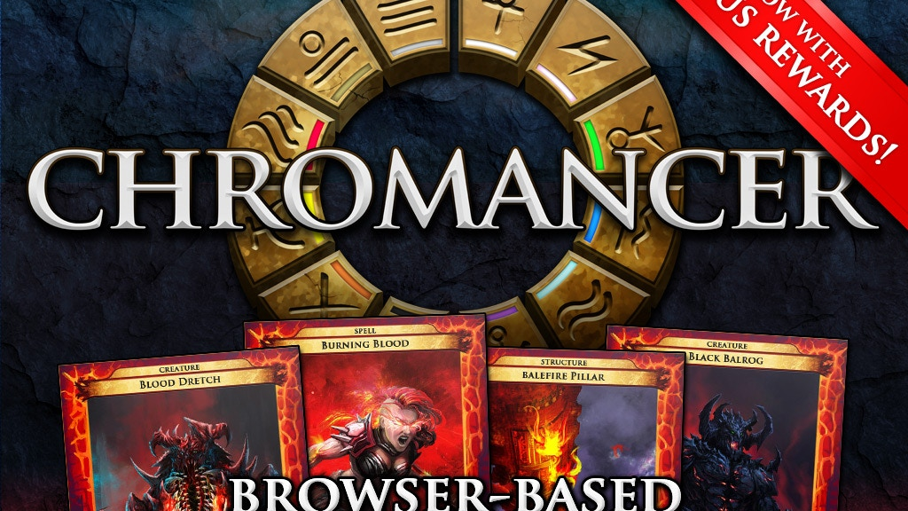 CHROMANCER Adaptive Strategy Online Trading Card Game by The
