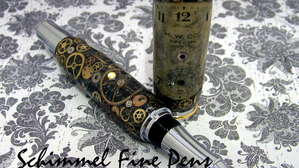 Schimmel Fine Pens. A Vintage Watch Parts Steampunk Pen project video thumbnail