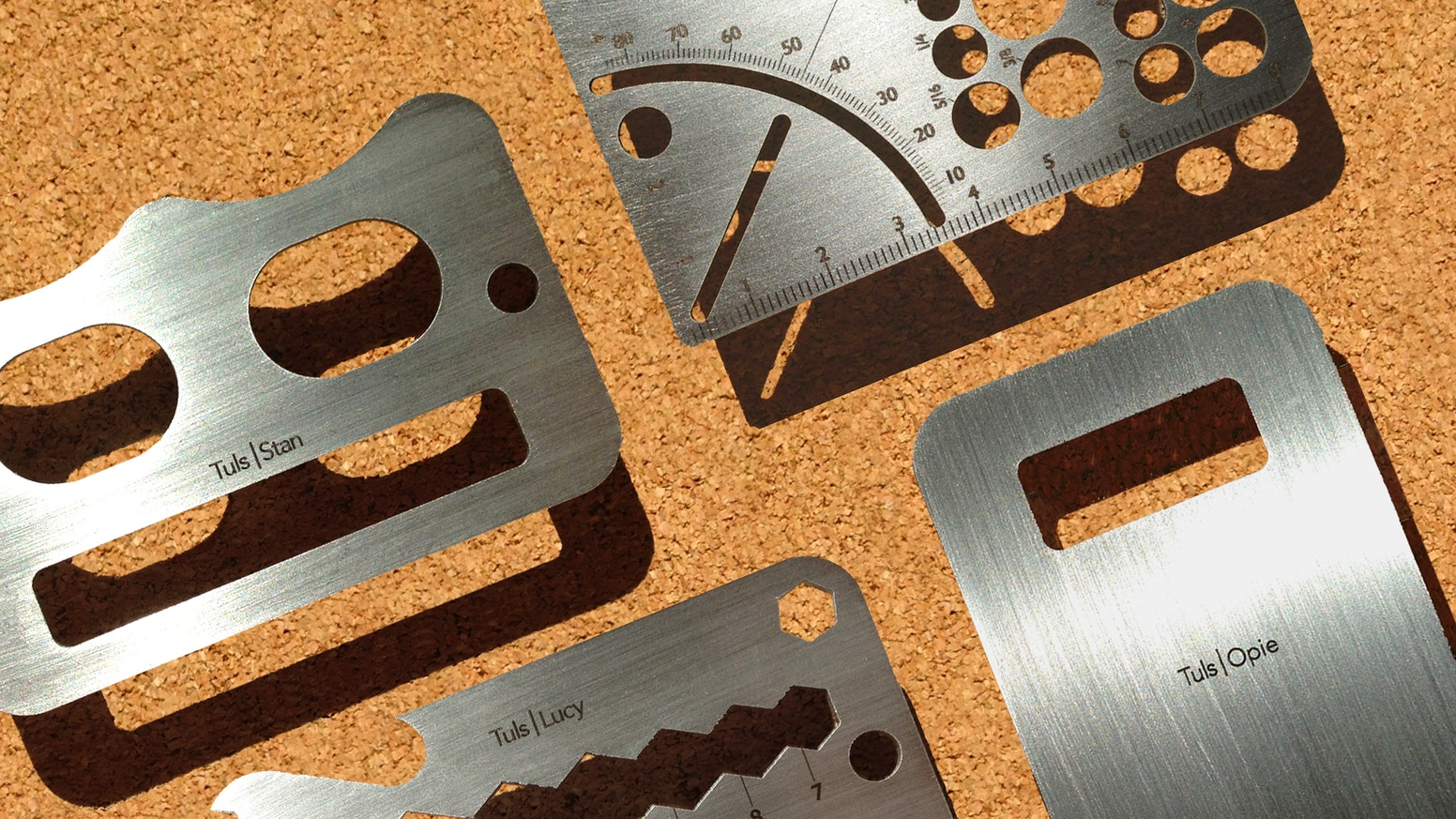 A family of credit card-sized tools - in Stainless Steel and Titanium!