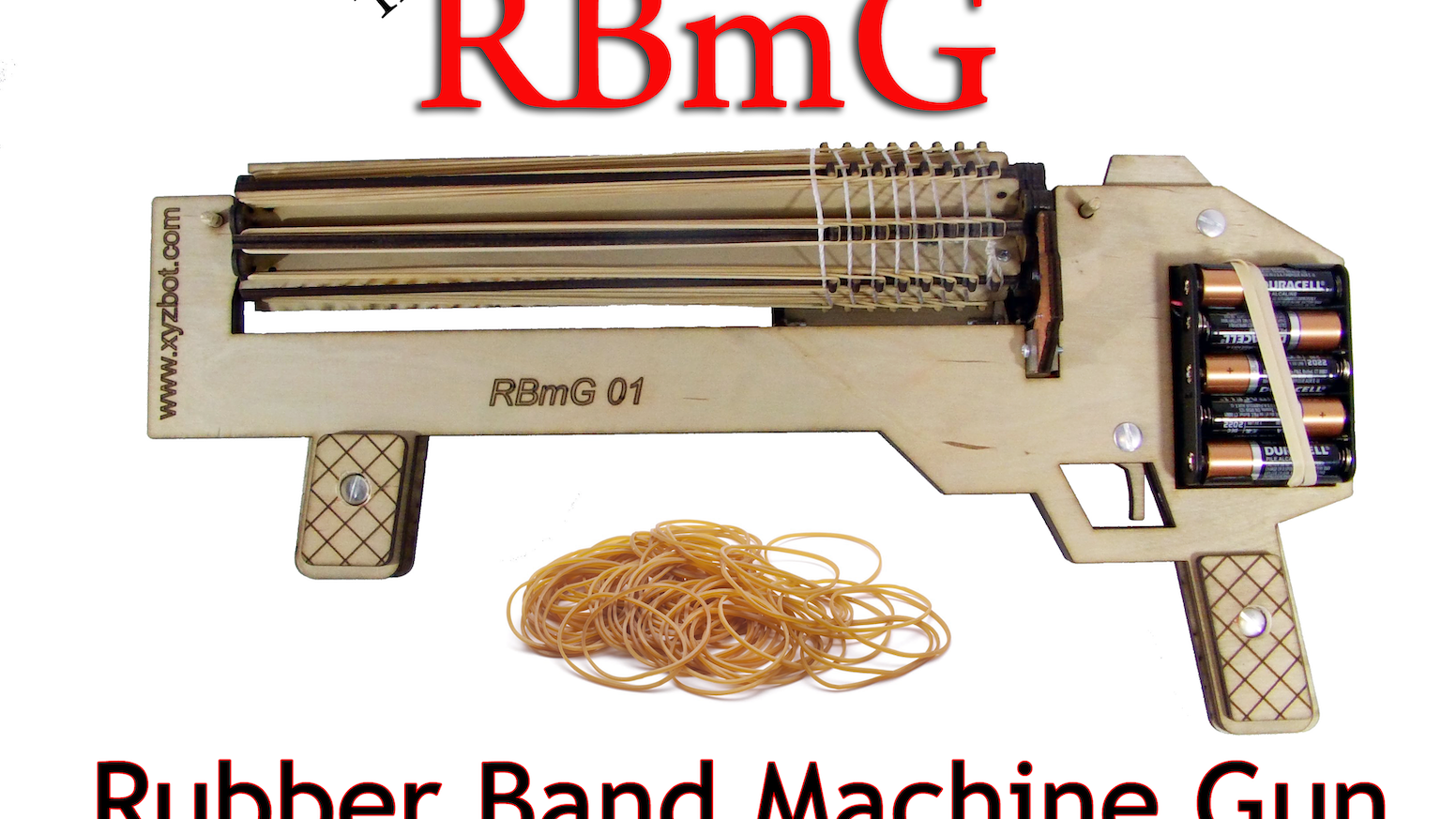 A fully automatic, rapid fire, rubber band gun.   - If you missed the kickstarter, go to www.kerkits.com to order an RBmG.