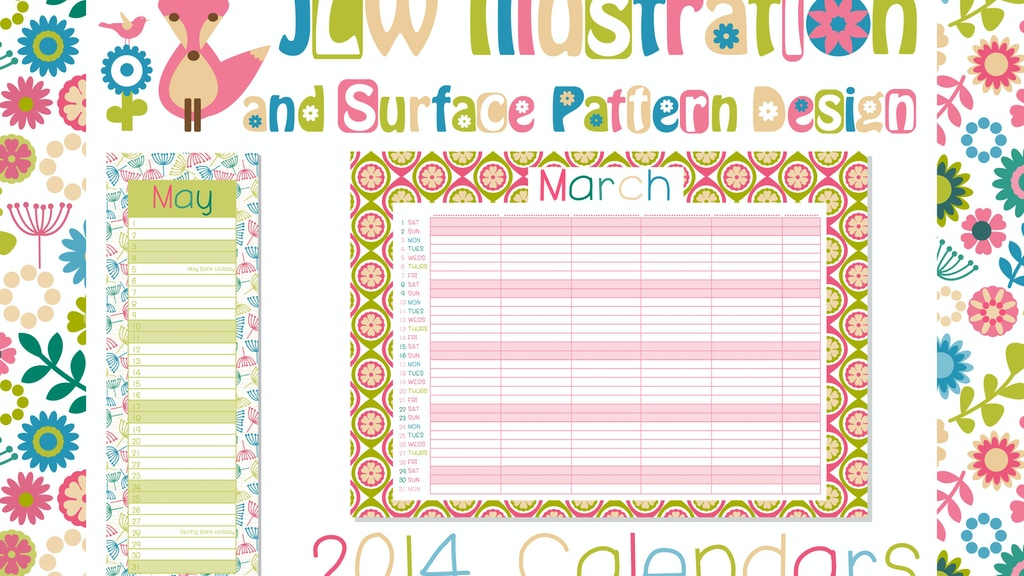 Project image for 2014 Surface Pattern Calendar