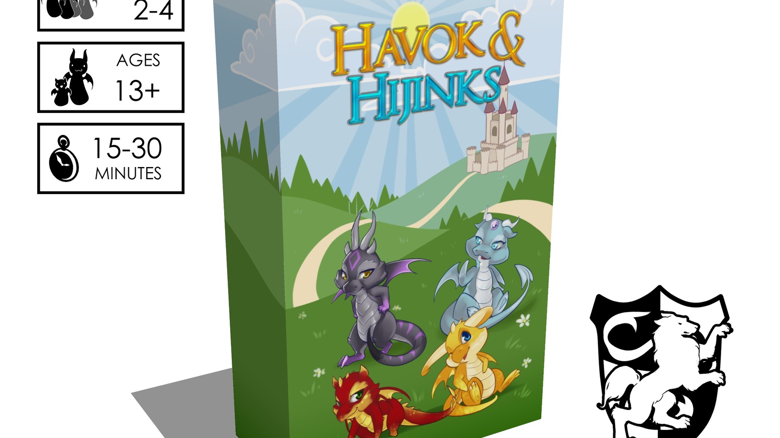 Havok & Hijinks™ is a family-friendly, light strategy card game featuring cute, humorous dragons competing for treasure.
