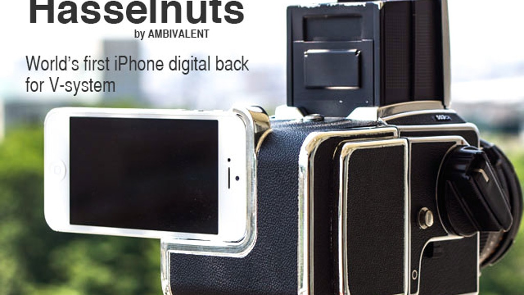 Hasselnuts: Hasselblad Camera + iPhone DigitalBack Kit! project video thumbnail