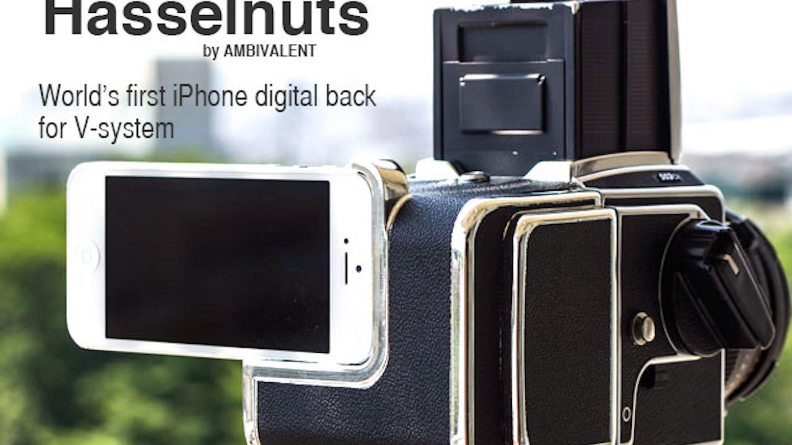 Hasselnuts: Hasselblad Camera + iPhone DigitalBack Kit! by
