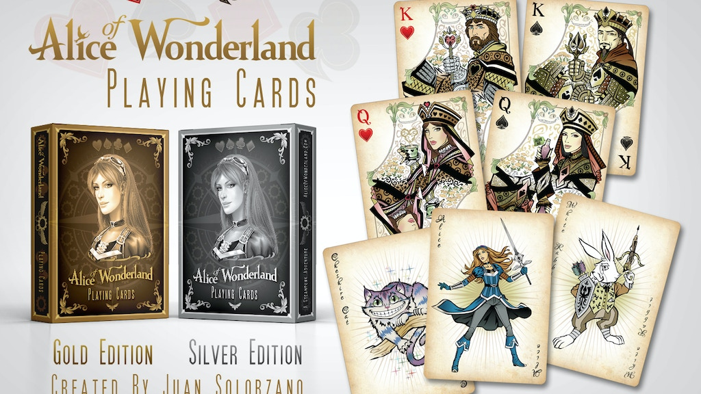 Alice of Wonderland Playing Cards - Gold & Silver Editions project video thumbnail