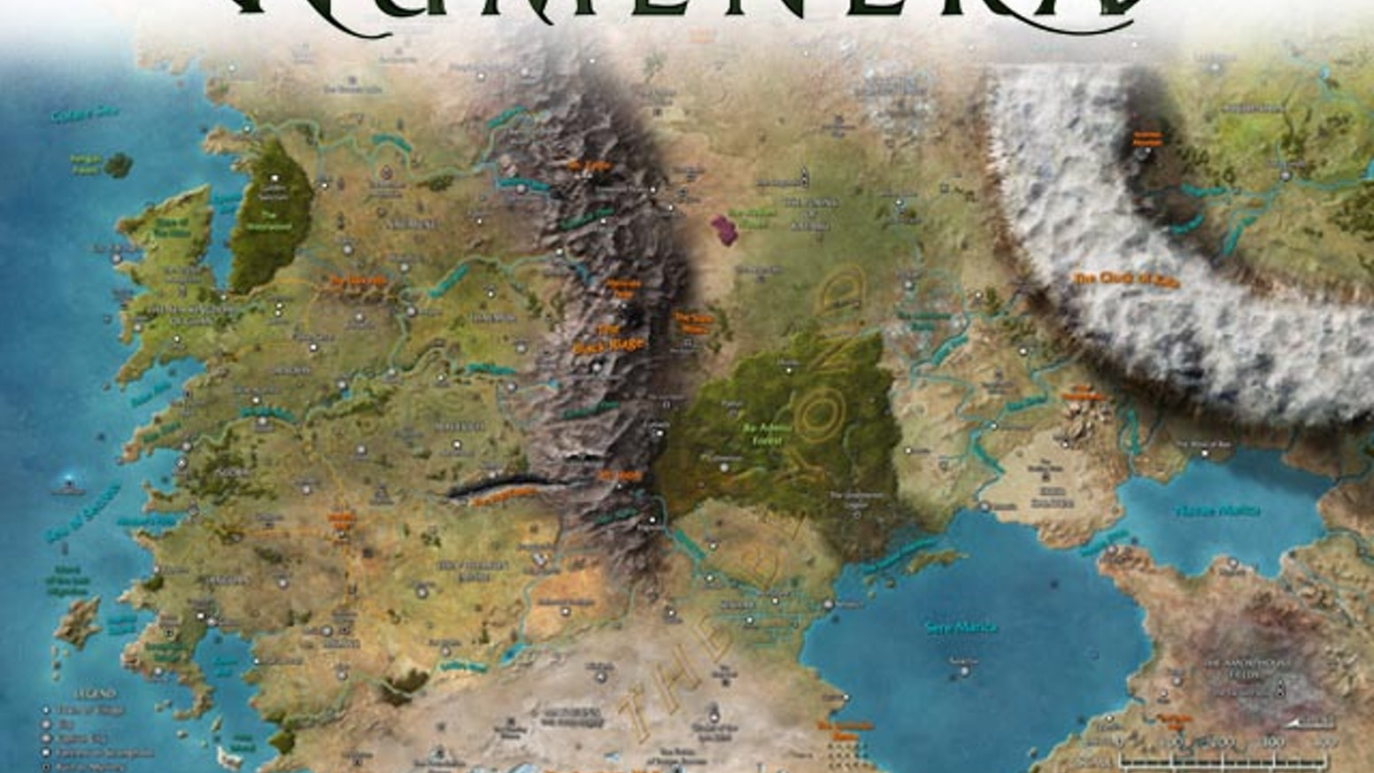 Numenera Poster Maps Of The Ninth World By Christopher West - High quality world map poster